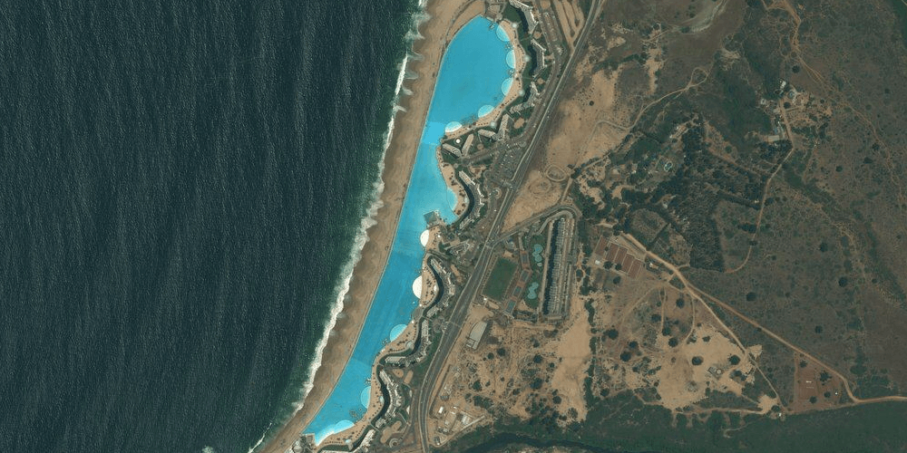 San Alfonso del Mar from space