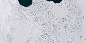 antartic ice from space