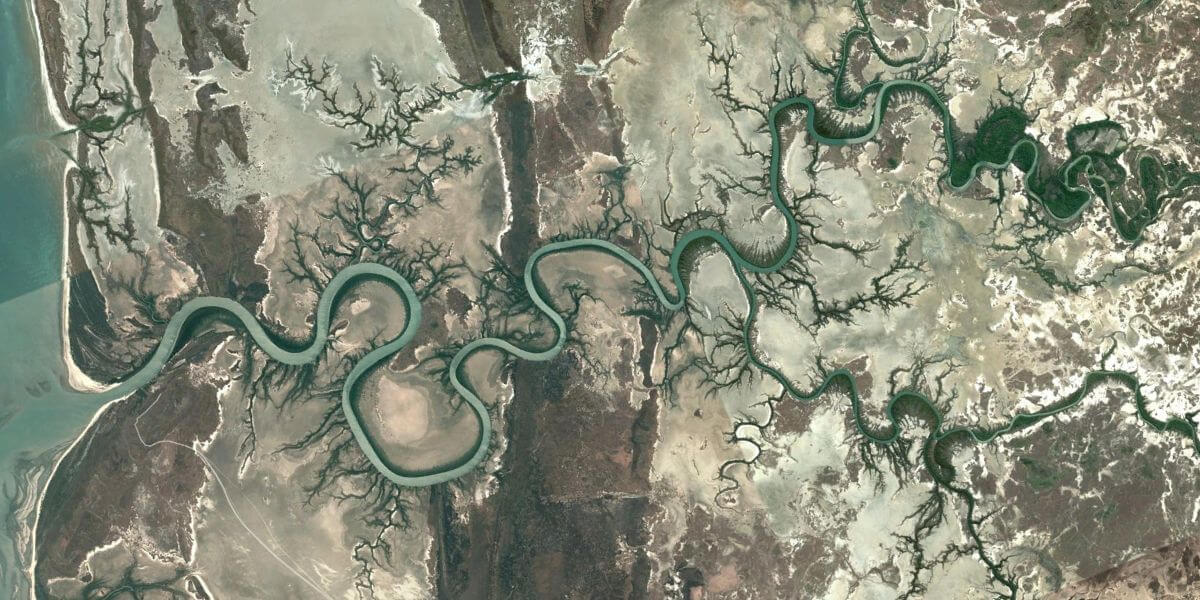 Australian river from space