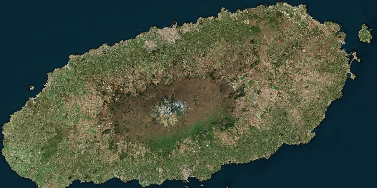 Jeju Island from space