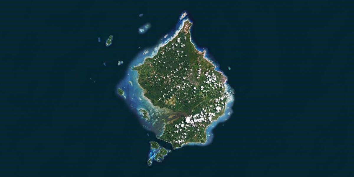 Kabupaten Natuna from above