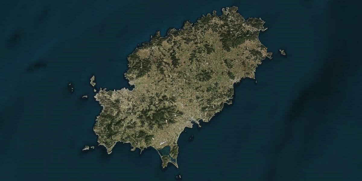 Ibiza from space