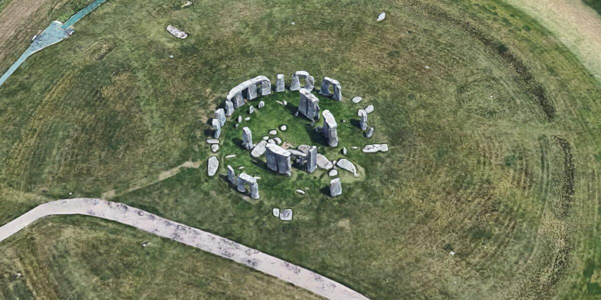 stonehenge vanuit de ruimte