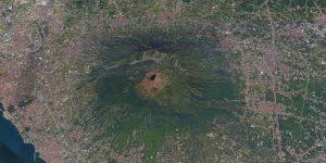 Mount Vesuvius from space