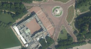 Buckingham Palace from space