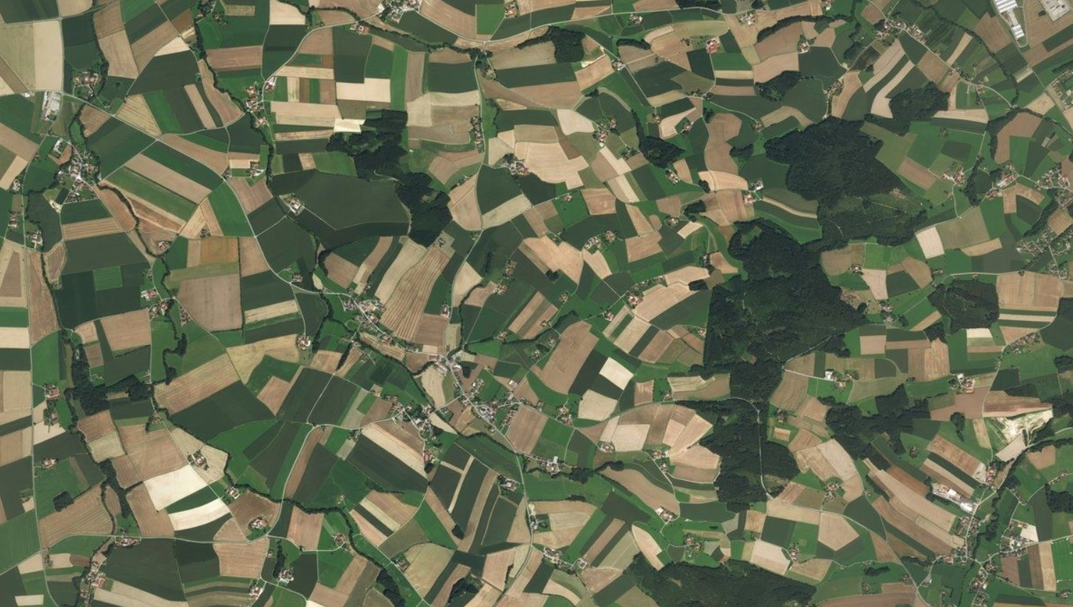 Austrian countryside from space