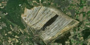 stone-pit from above