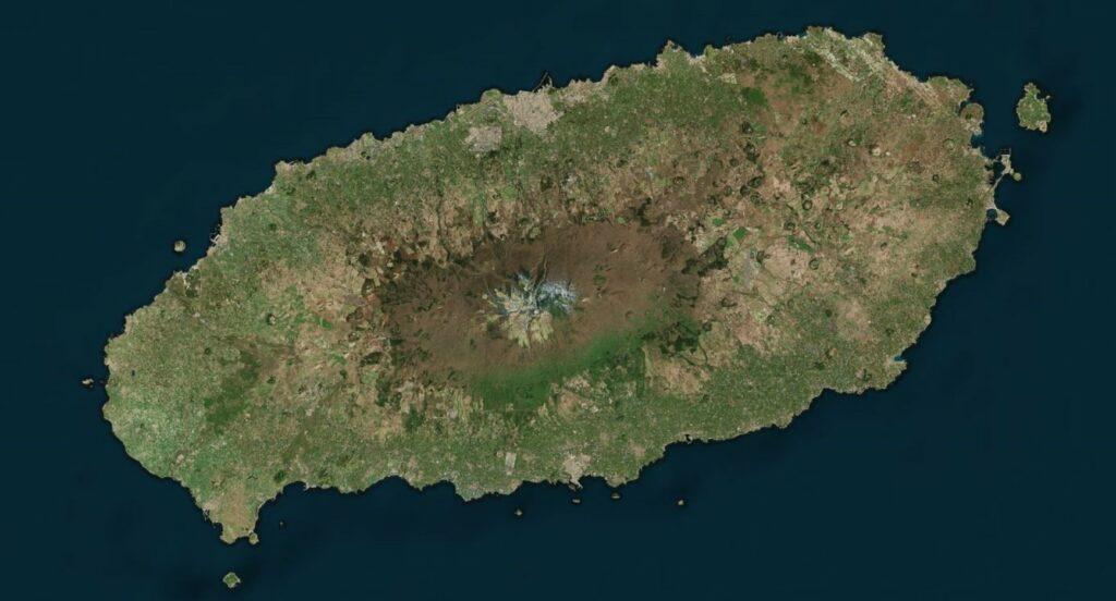 jeju-eiland van bovenaf