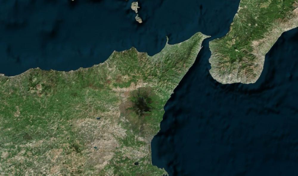 Etna depuis l'espace