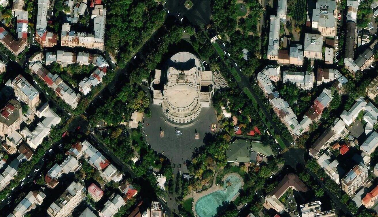 Yerevan from space
